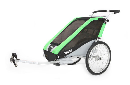 Chariot Cheetah1+Cycle,Green 14-X