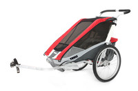 Thule Chariot Cougar2 Red Bike