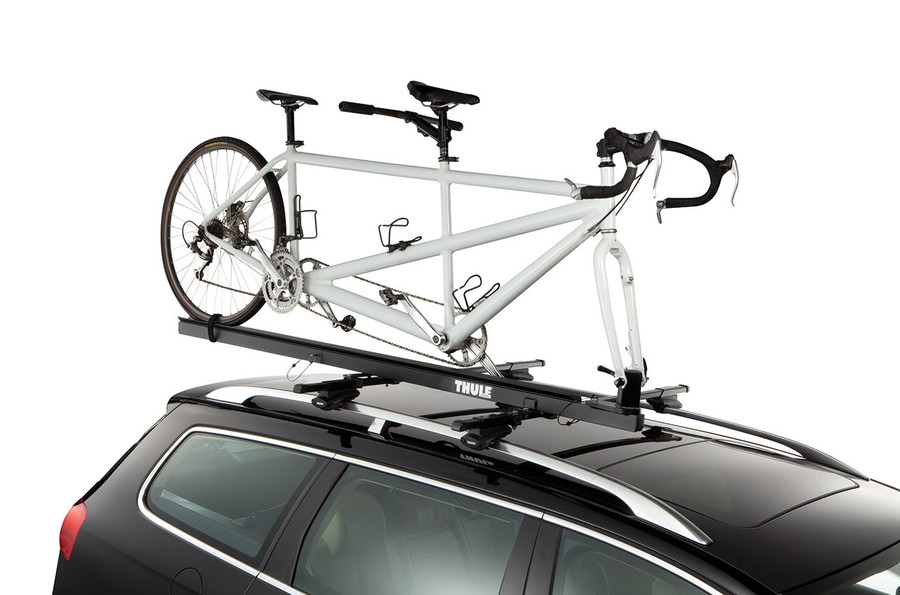Roof Bike Rack Thule Tandem Carrier 558p On A Car