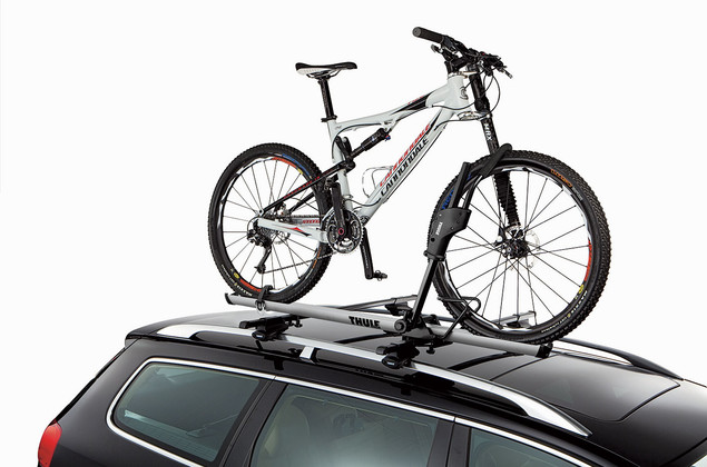 Roof bike rack-Thule Sidearm 594XT-On a car