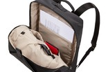 Interior slip pockets and zippered compartment of Thule Spira Backpack