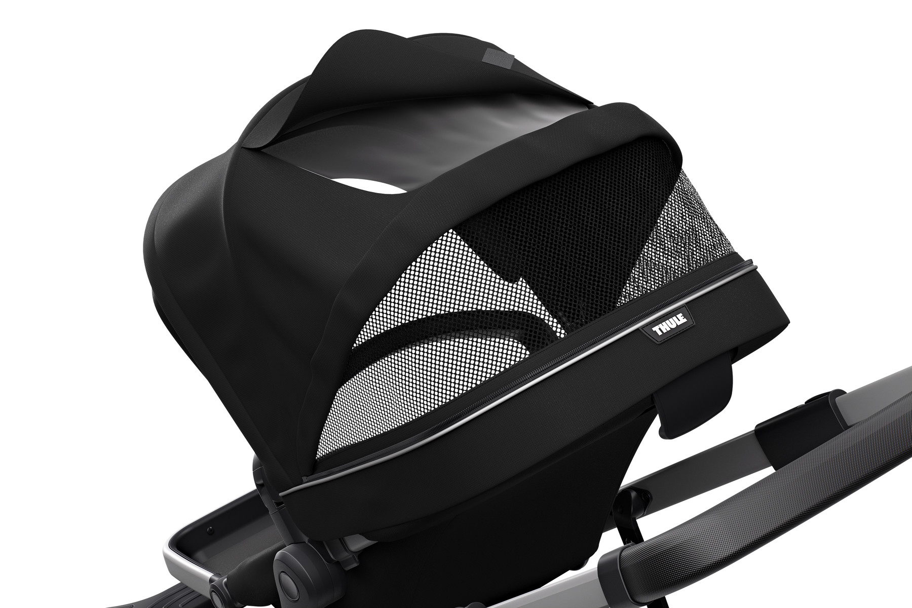 Extendable canopy of Thule Sleek Midnight Black