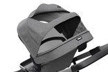 Extendable canopy of Thule Sleek Grey Melange
