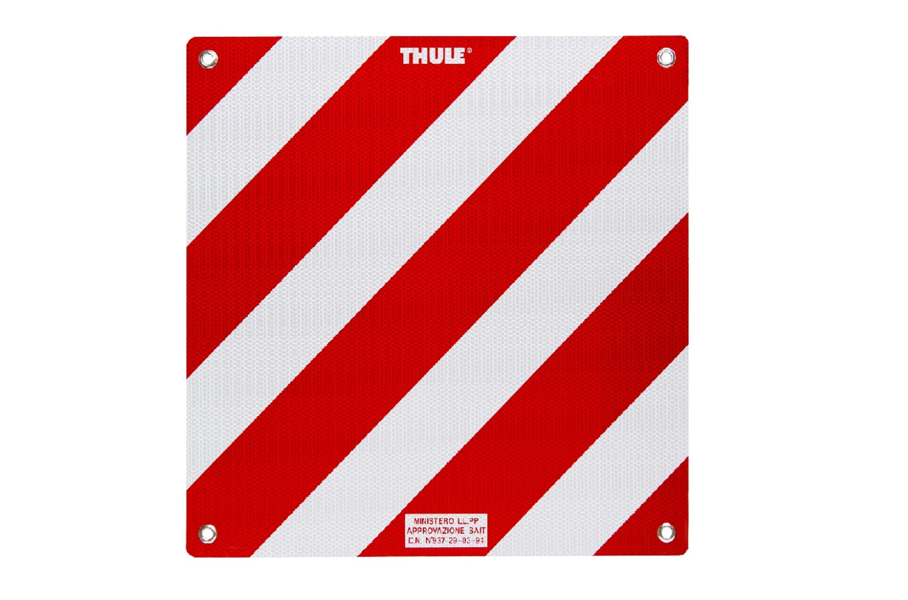 Aluminium rear warning sign for Italy and other European countries