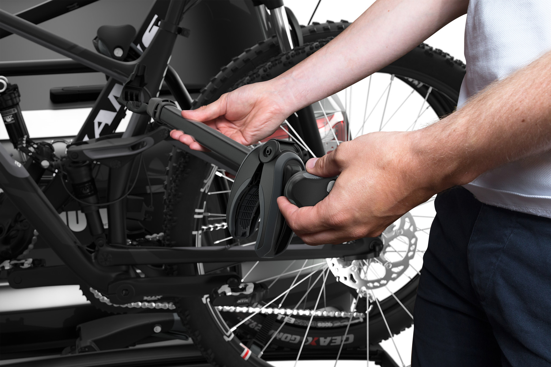 Transport wheel for VeloSpace towbar rear carrier Thule bicycle
