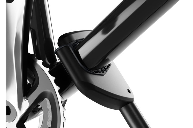 Thule ProRide 598 Roof Bike Rack claw pads that minimize the risk of bike frame damage.