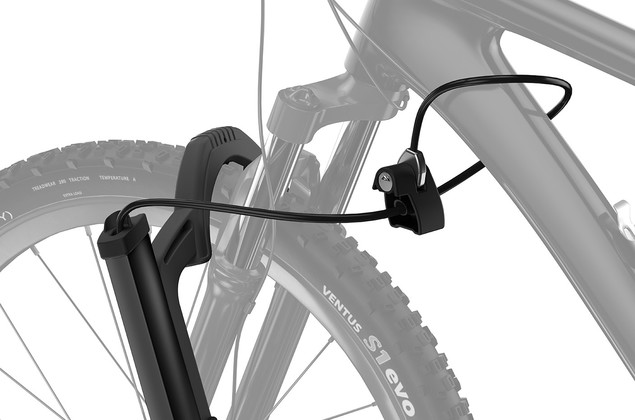 Thule T2 Pro XT integrated cable lock