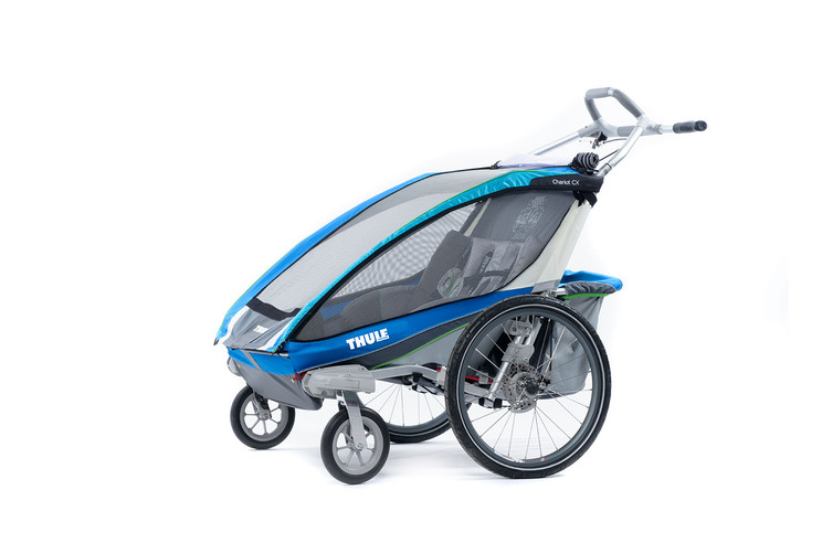 Thule Chariot CX2 Blue Strolling
