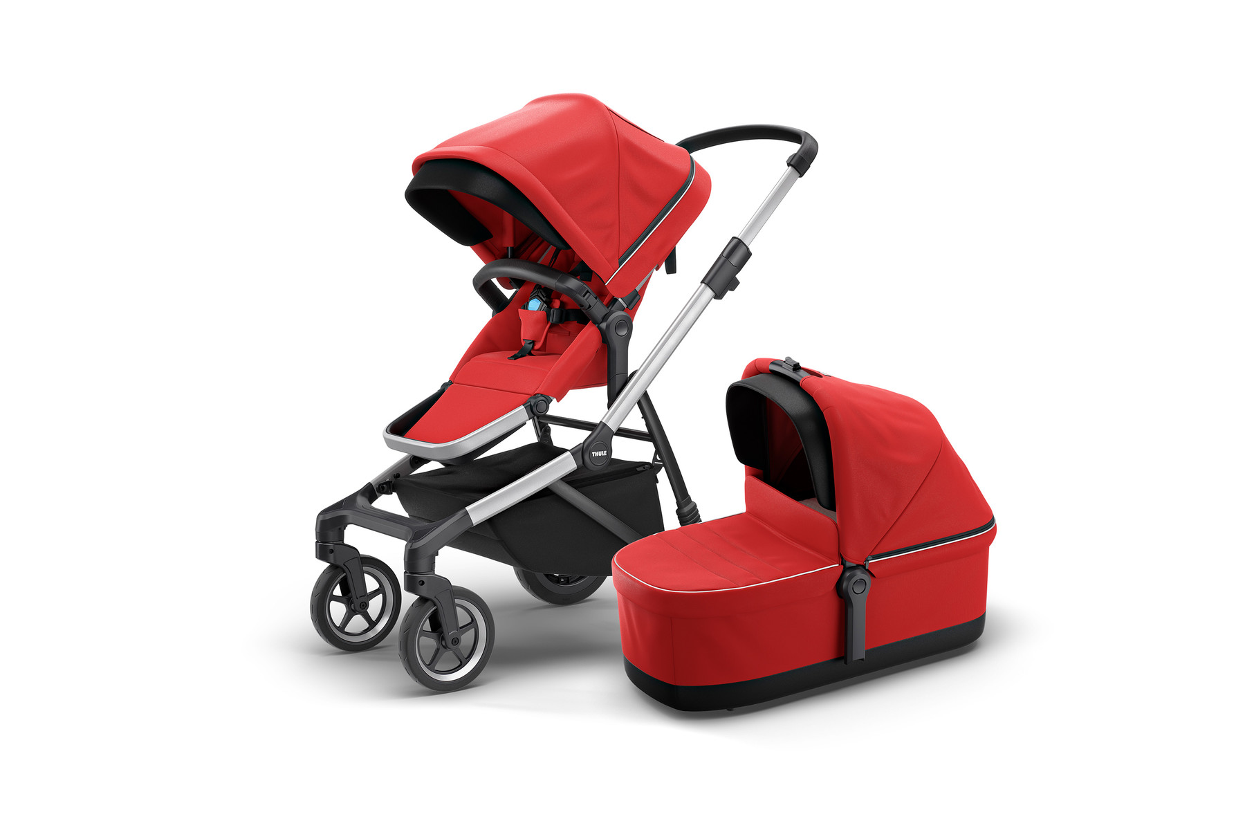 Thule Sleek and Bassinet EnergyRed Hero