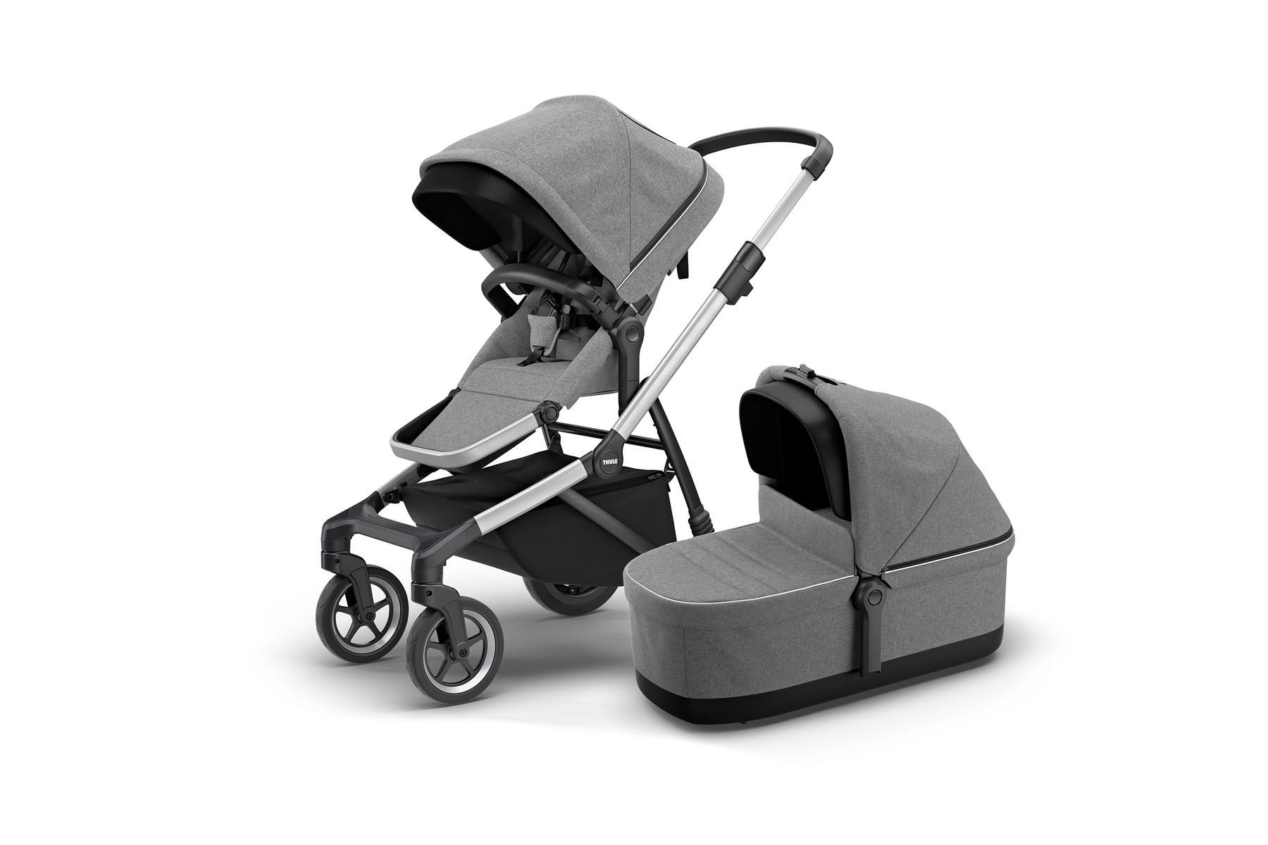 Thule Sleek and Bassinet GreyMelange Hero