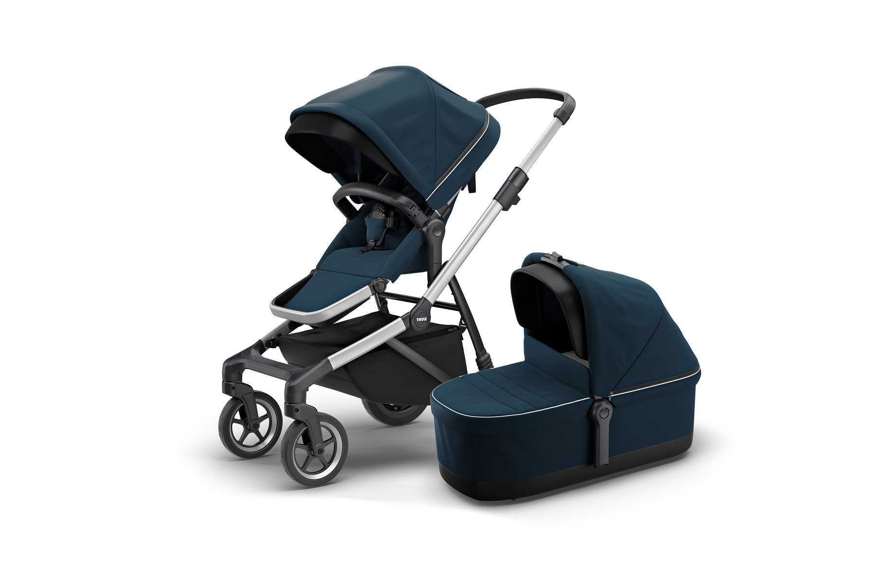Thule Sleek and Bassinet NavyBlue Hero