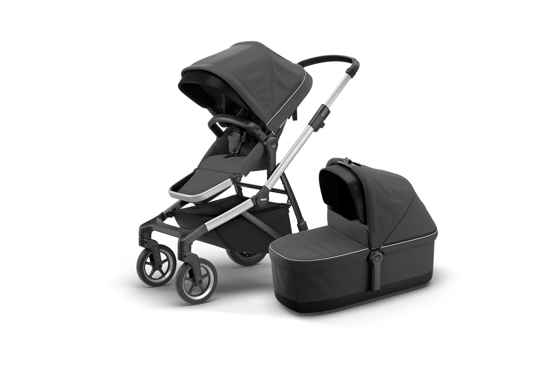 Thule Sleek and Bassinet Shadoand Grey Hero