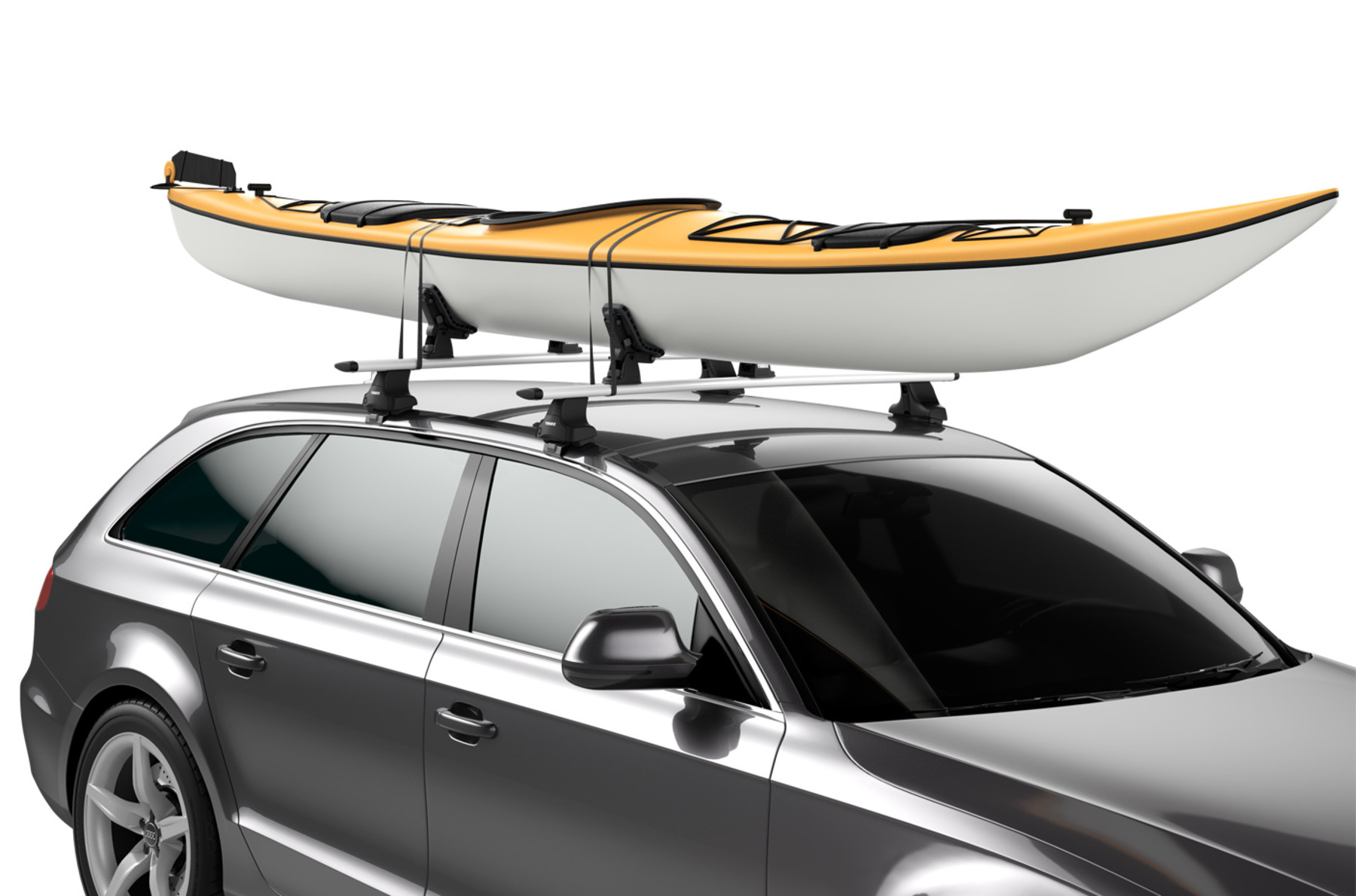 Thule DockGrip on car T-Track