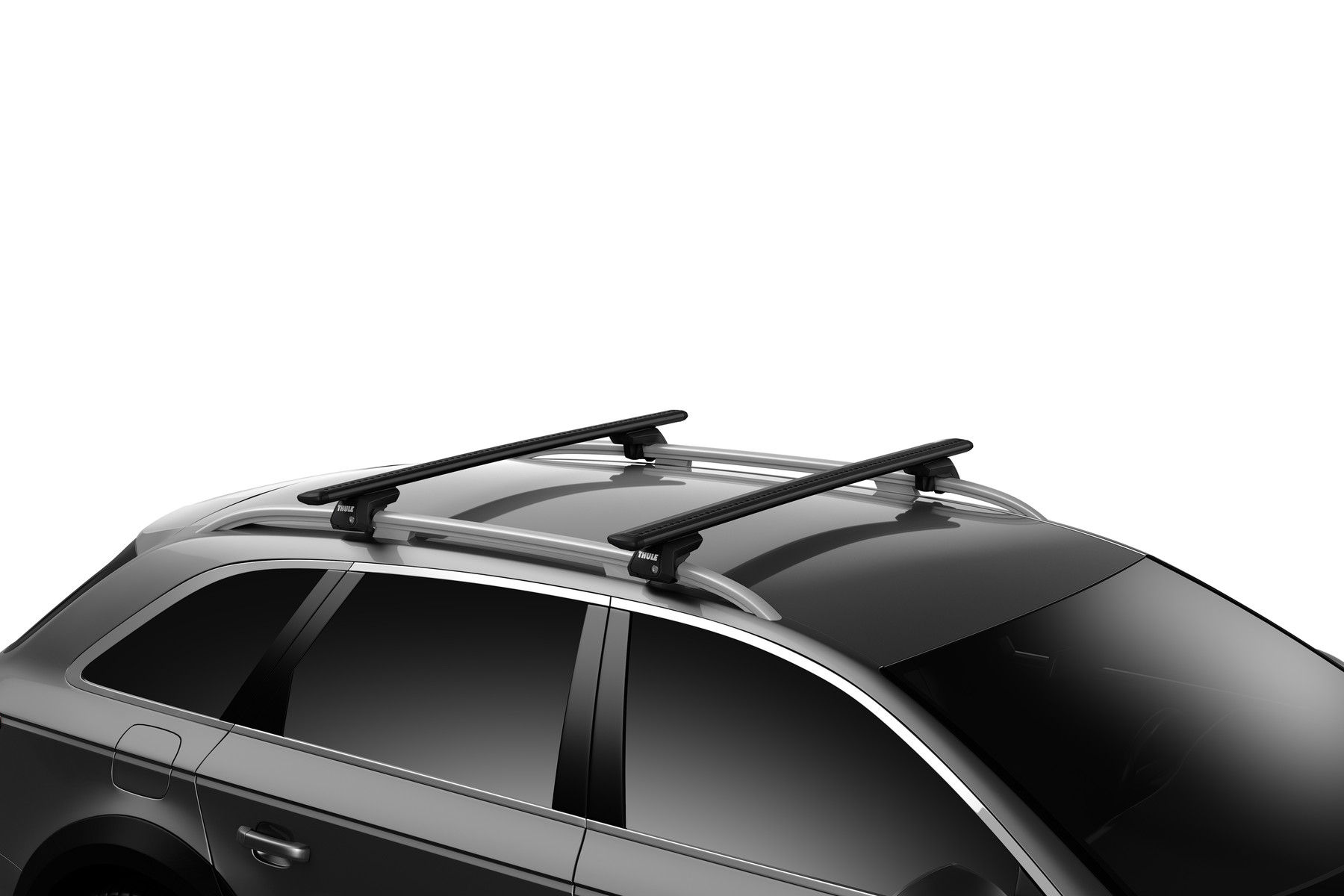 Thule WingBar Evo Black on car