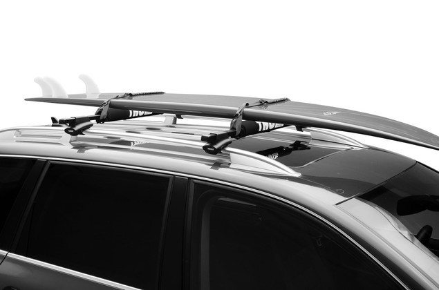 Surfboard racks with rack pads