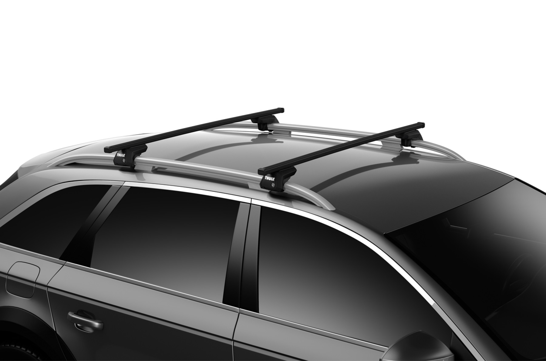 Thule 760 Black square bars 108cm pair