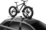 Thule UpRide 599 Fatbike adapter in use on car