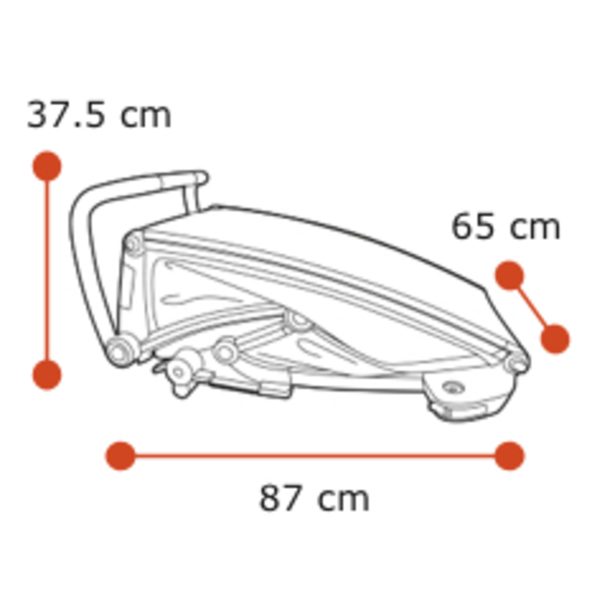 Thule Chariot Lite - Folded dimensions