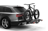 Thule EasyFold XT 2 bike on car with fatbike 933100