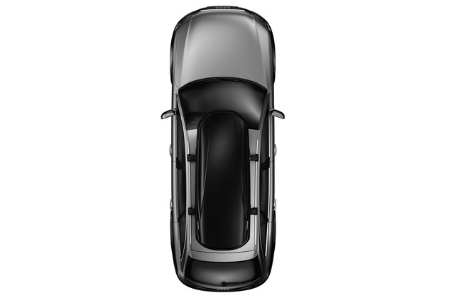 Thule Force_Rooftop cargo carrier on car from above