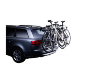 Three bicycles on a Thule ClipOn 9103