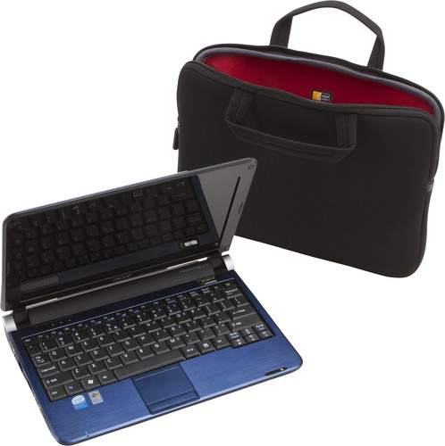 Case Logic 12.1 inches Chromebooks™/Ultrabooks™ Sleeve beside a laptop