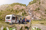 Thule Omnistor 6300 caravan in the mountains