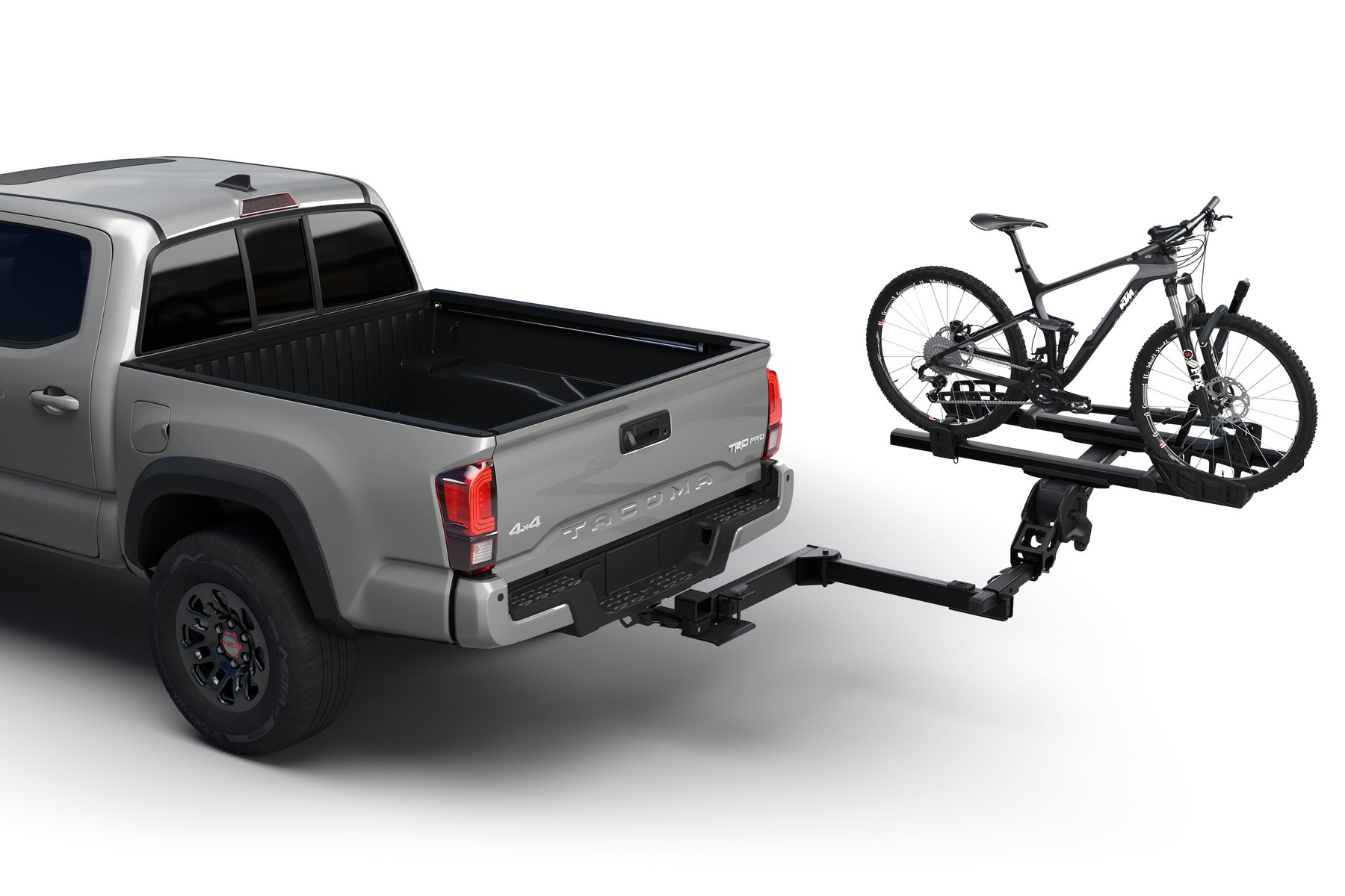 Thule Access 9037 with bikes on car open
