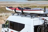 Kayak on Thule car racks