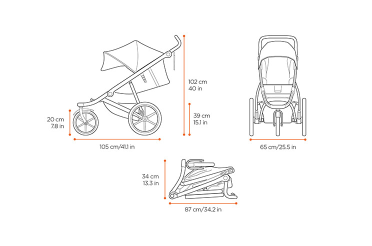 Dimensions of stroller Thule Urban Glide