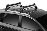 Thule Snowpack Extender 7325 on car