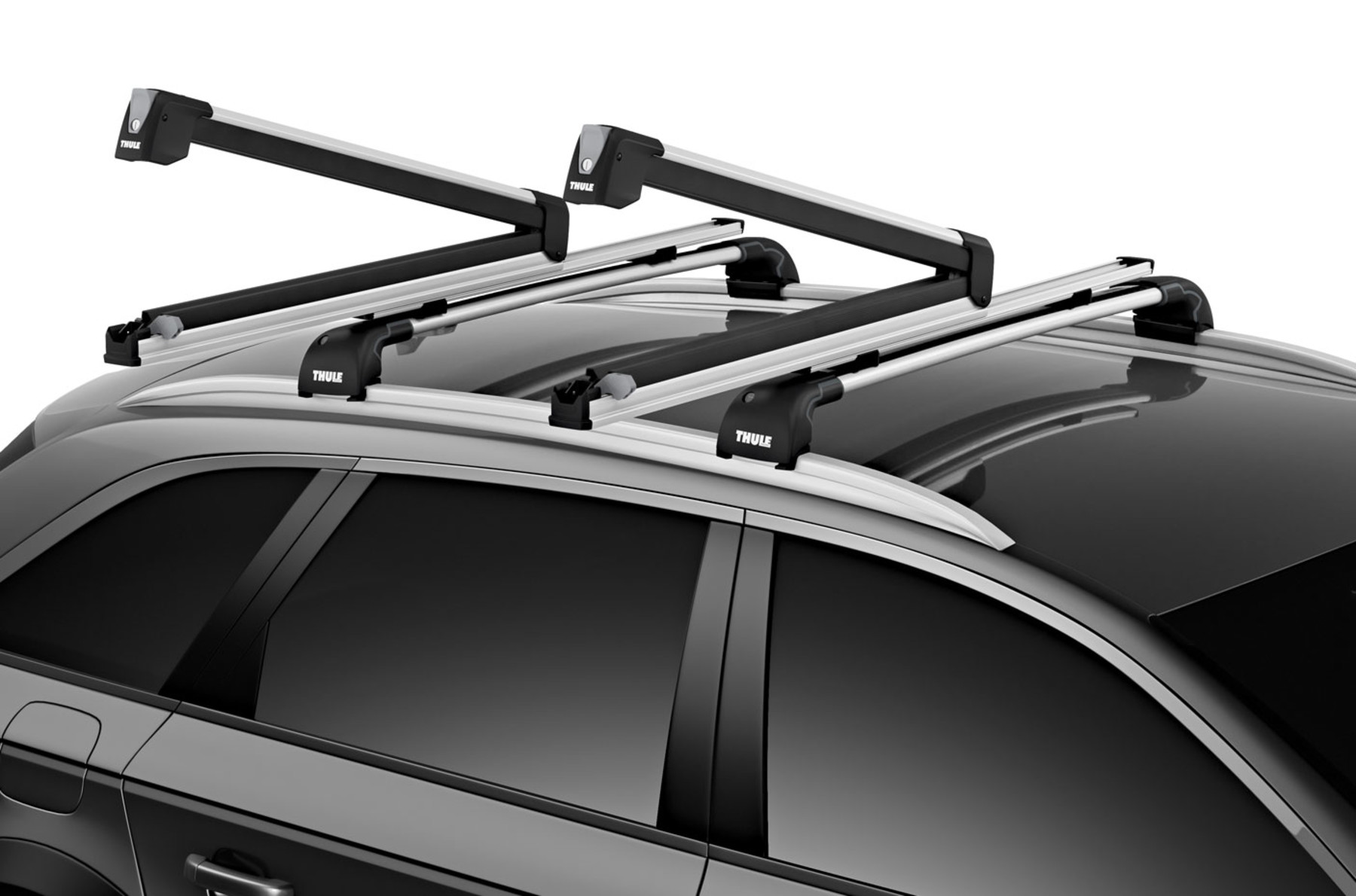 Thule Snowpack Extender Roof Mounted Ski//Snowboard Carrier