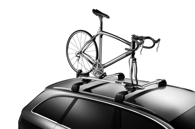 Roof bike rack-Thule Sprint XT-On a car