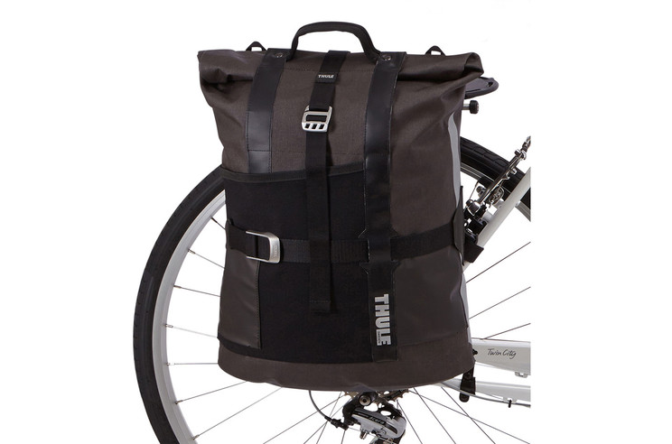 Panniers and bike bags-Thule Pack 'n Pedal Commuter Pannier-on a bike