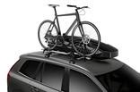 Thule Motion XT Sport on car with ProRide - black glossy