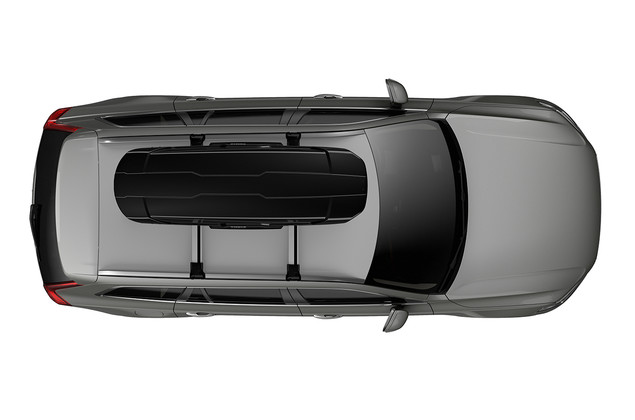 Thule Motion XT Sport top on car - black glossy