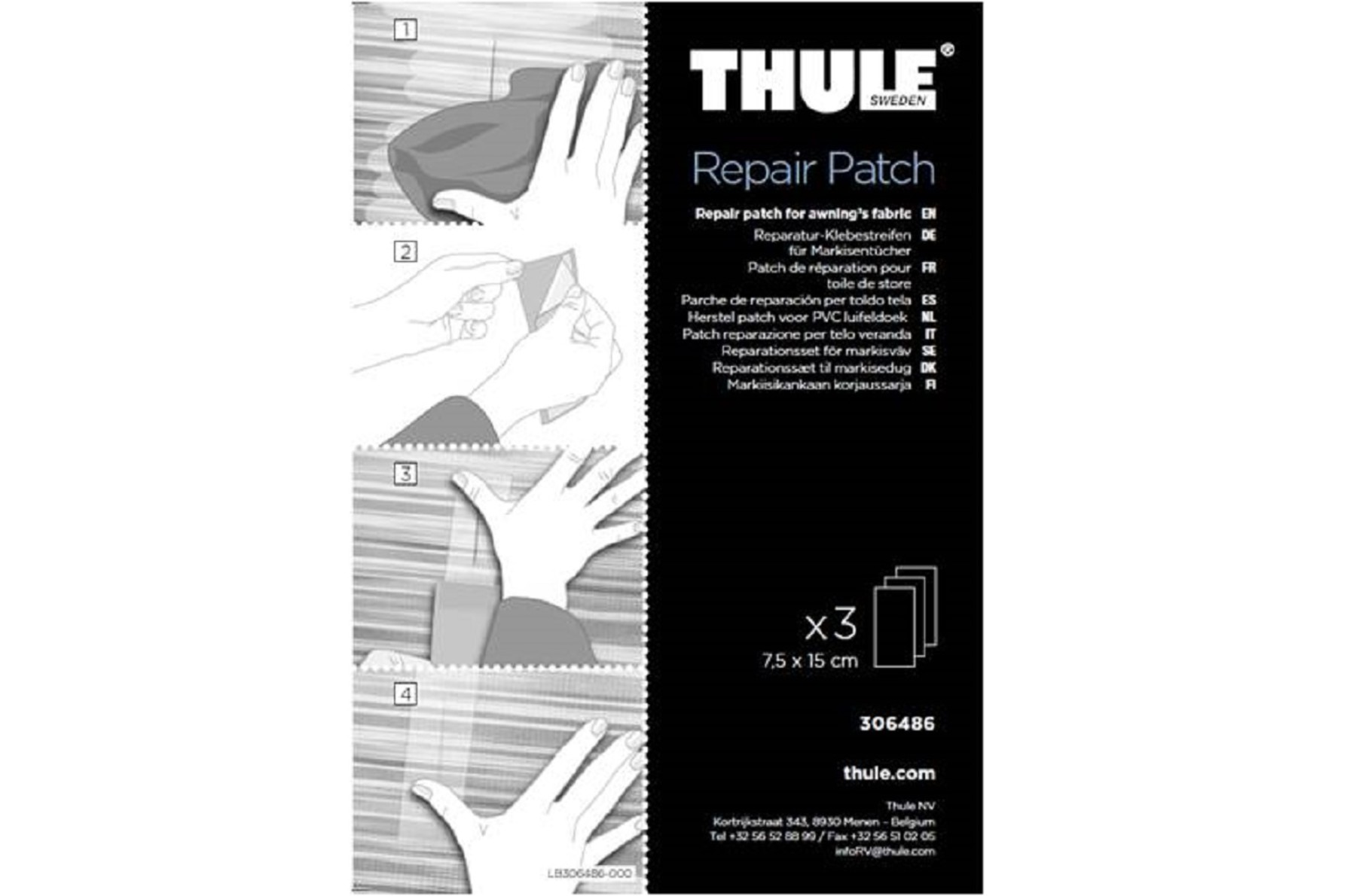 Thule Repair Patch, markisevedligeholdelse